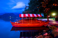 Bled - Pletna Boats on Lake Bled