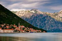 Perast - View of Perast Village, Late Afternoon
