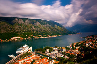 Kotor - Cruise Ship, View from Fortress
