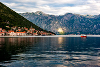 Perast - View of Perast from Our Lady of the Rock