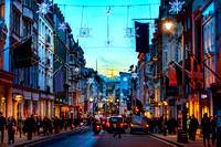 London - Christmas Decorations in Bond Street