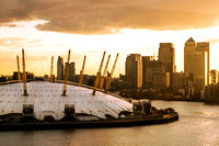 London - The O2 and Canary Wharf