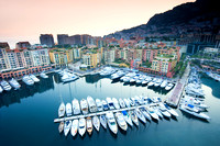 Monaco -View of Fontvieille at Sunset