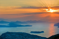 Dubrovnik - View of Elaphite Islands at Sunset