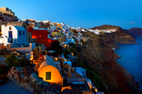 Santorini - Twilight over Cyladic Homes in Oia