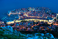 Dubrovnik - View of The Old Walled City at Twilight