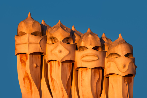 Barcelona - Ventilation Towers of La Pedrera